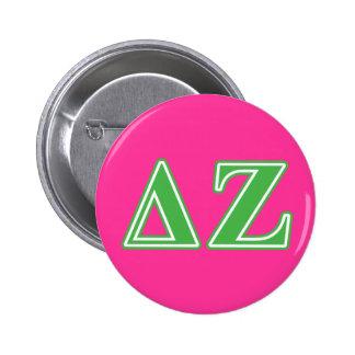 Lettres vertes de Zeta de delta Badge