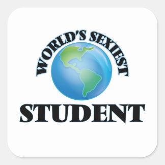 L'étudiant le plus sexy du monde sticker carré