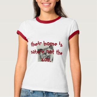 leur maison est nature pas le zoo. liberté t-shirt