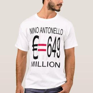 L'euro (à fond gris) de Nino Antonello N.A. égale T-shirt