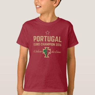 L'euro du football du Portugal soutient le T-shirt