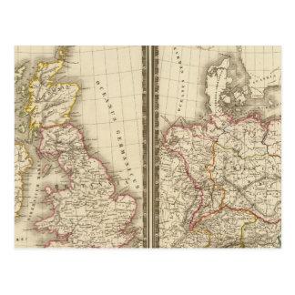L'Europe Angleterre centrale Allemagne Cartes Postales