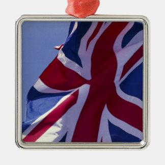 L'Europe, Angleterre, drapeau britannique Ornement Carré Argenté