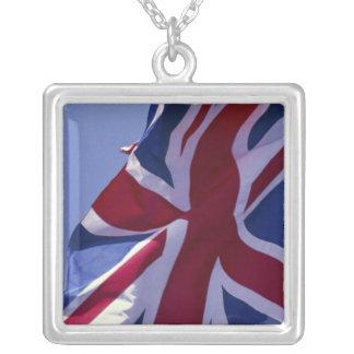L'Europe, Angleterre, drapeau britannique Pendentif Carré