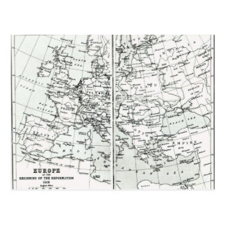 L'Europe, au début de la réforme Cartes Postales