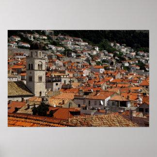 L'Europe, Croatie. Ville murée médiévale de Posters
