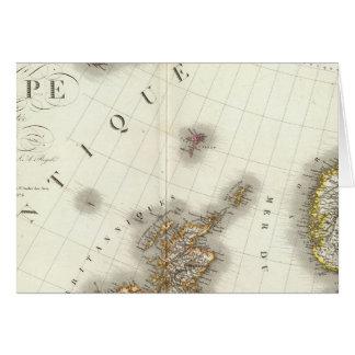 L'Europe du nord-ouest Carte De Vœux