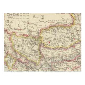 L'Europe du sud-est, Roumanie, Turquie, Servia Carte Postale