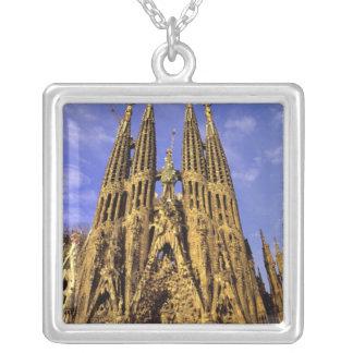 L'Europe, Espagne, Barcelone, Sagrada Familia Pendentif Carré
