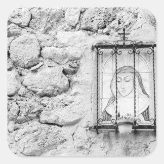 L'Europe, Espagne, Majorque. Le mur saint, Sticker Carré