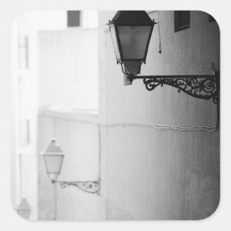 L'Europe, Espagne, Majorque. Streelights, Palma Sticker Carré