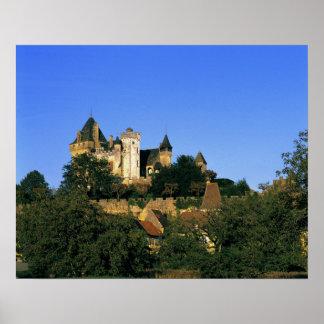 L'Europe, France, Montforte. Le château médiéval Posters