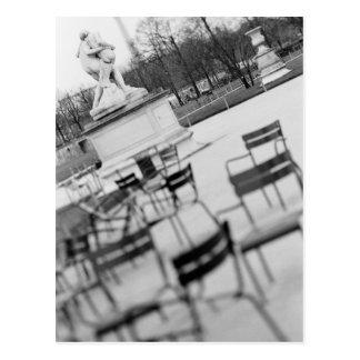 L'Europe, France, Paris. Chaises, Jardin du Carte Postale