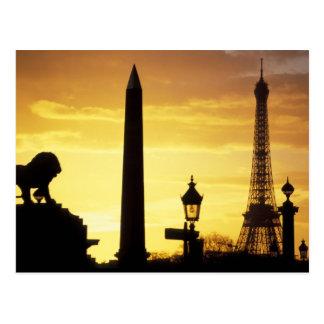 L'Europe, France, Paris, endroit De Concorde Carte Postale