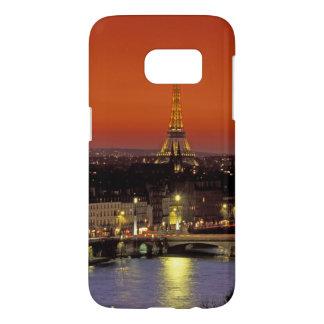 L'Europe, France, Paris. Vue de coucher du soleil Coque Samsung Galaxy S7