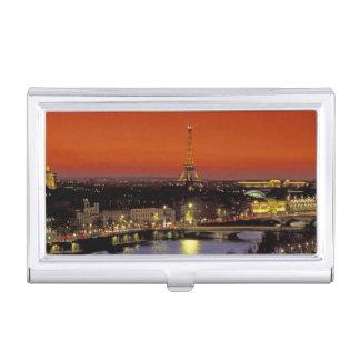 L'Europe, France, Paris. Vue de coucher du soleil Étui Pour Cartes De Visite