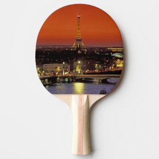 L'Europe, France, Paris. Vue de coucher du soleil Raquette De Ping Pong