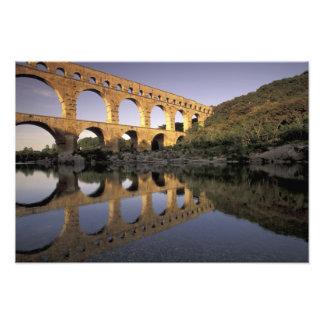 L'Europe, France, Provence, le Gard ; Pont du le G Tirage Photo