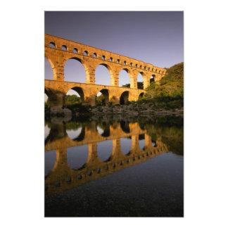 L'Europe, France, Provence, le Gard. Pont du le Ga Impression Photo