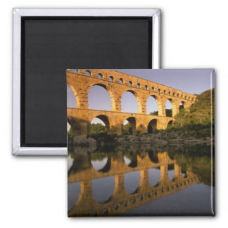 L'Europe, France, Provence, le Gard. Pont du le Ga Magnet Carré