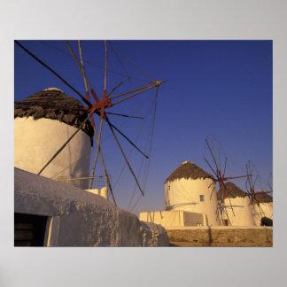 L'Europe, Grèce, îles de Cyclades, Mykonos, 2 Posters