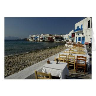 L'Europe, Grèce, Mykonos. Vues du bord de la mer Carte De Vœux