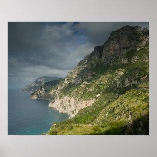 L'Europe, Italie, Campanie (côte d'Amalfi) Positan Posters