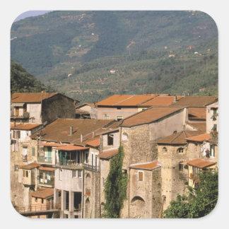 L'Europe, Italie, Ligurie, la Riviera di Ponente, Sticker Carré