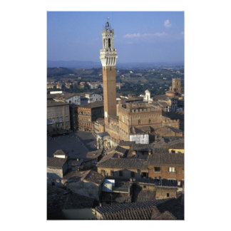 L'Europe, Italie, Sienne. Aperçu de ville Photo D'art