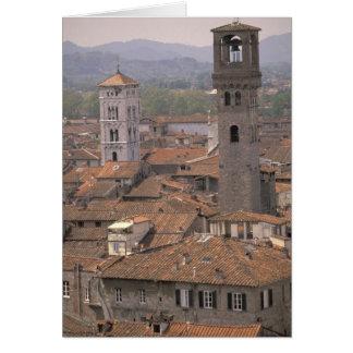 L'Europe, Italie, Toscane, Lucques, panorama de Carte De Vœux