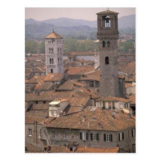 L'Europe, Italie, Toscane, Lucques, panorama de Carte Postale