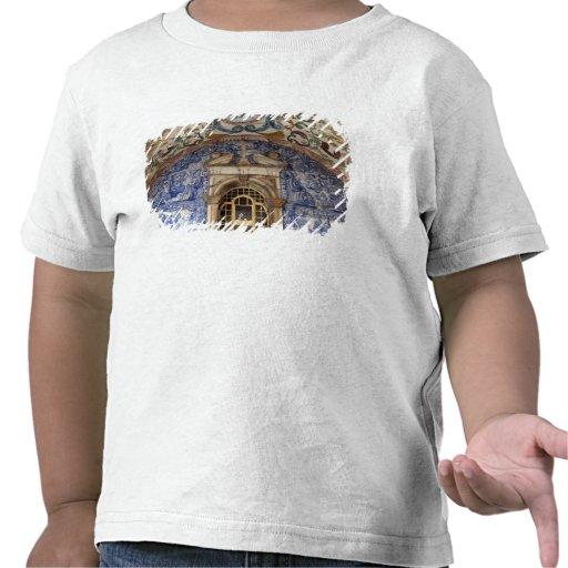 L'Europe, Portugal, Obidos. Architectural coloré T-shirt