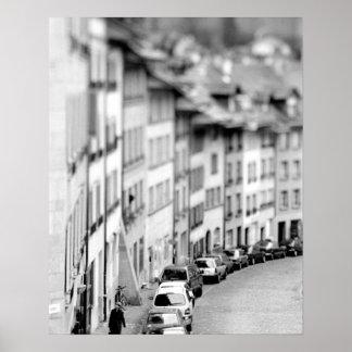 L'Europe, Suisse, Berne. Vieux bâtiments de ville Affiches