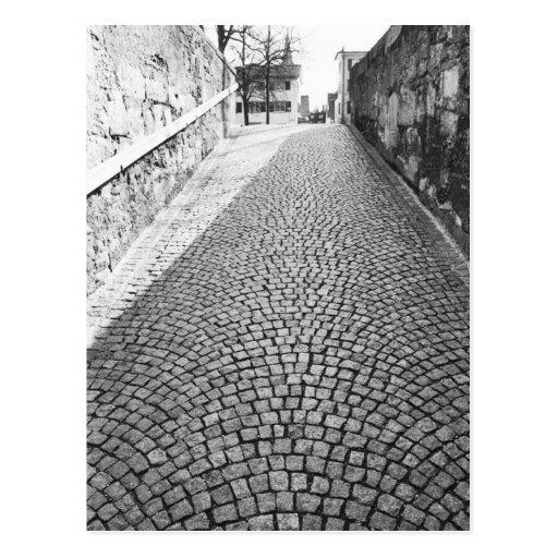 L'Europe, Suisse, Zurich. Rue pavée en cailloutis, Cartes Postales