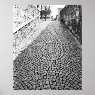 L'Europe, Suisse, Zurich. Rue pavée en cailloutis, Poster
