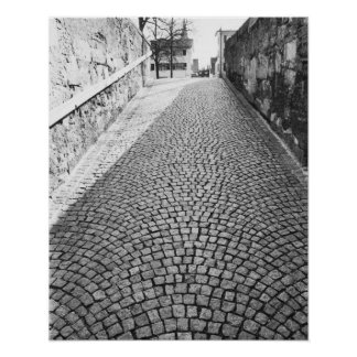 L'Europe, Suisse, Zurich. Rue pavée en cailloutis, Posters