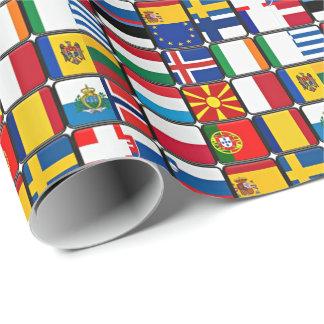 L'Européen marque le patchwork Papier Cadeau Noël