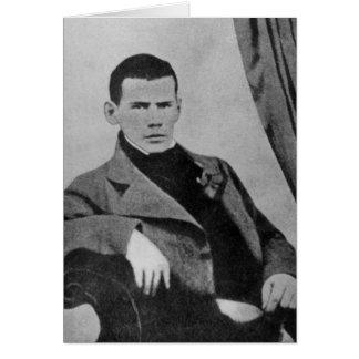 Lev Nikolaevich Tolstoy en tant qu'étudiant Carte De Vœux