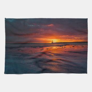Lever de soleil à la serviette de cuisine de Roker