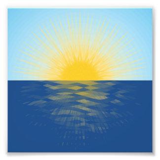 Lever de soleil au-dessus des nouveaux débuts impression photo