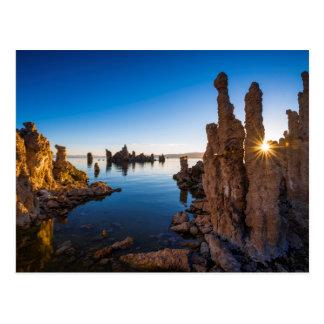 Lever de soleil au lac mono, la Californie Carte Postale