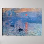 Lever de soleil - Claude Monet Poster