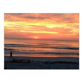 Lever de soleil dans Daytona Beach, FL Carte Postale
