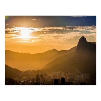 Lever de soleil dans le Rio de Janeiro Cartes Postales
