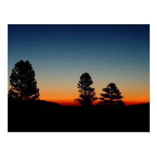Lever de soleil dans les sierras orientales, carte cartes postales