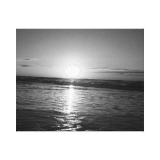 Lever de soleil dans noir et le blanc toiles