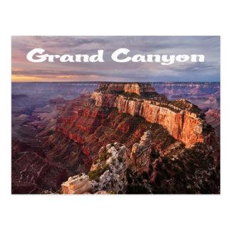 Lever de soleil de canyon grand, carte postale de