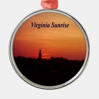 Lever de soleil de la Virginie Ornement Rond Argenté