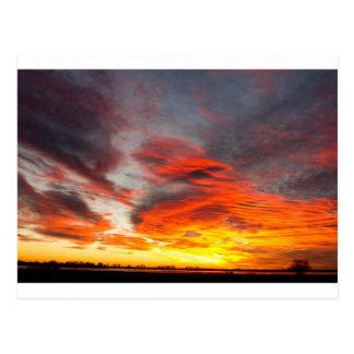 Lever de soleil de lac union le 14 février 2011 - carte postale