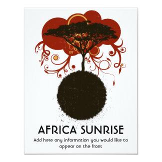 Lever de soleil de l'Afrique personnalisable Carton D'invitation 10,79 Cm X 13,97 Cm
